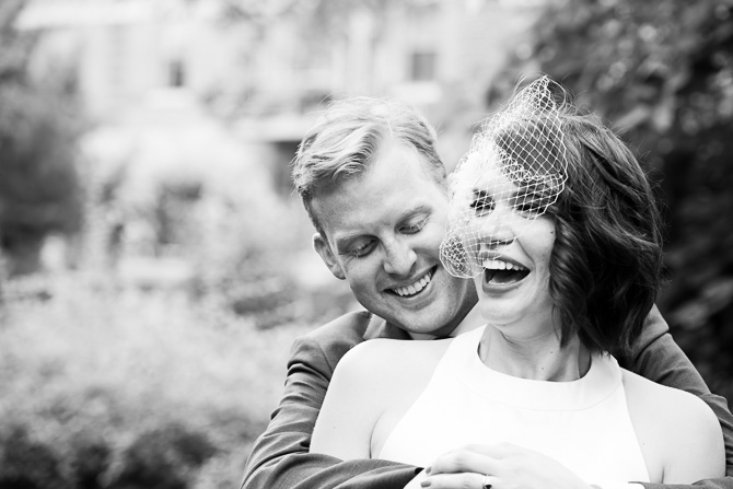 Oak Park Wedding - B&W Portrait