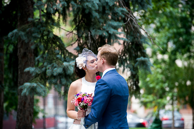 Oak Park Wedding - Emilia Jason Kiss